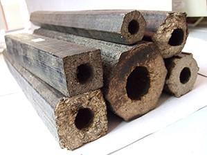 Square coal briquettes