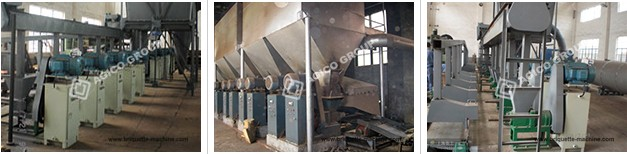 charcoal briquette production